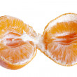 Tear in two mandarin. — Stock Photo
