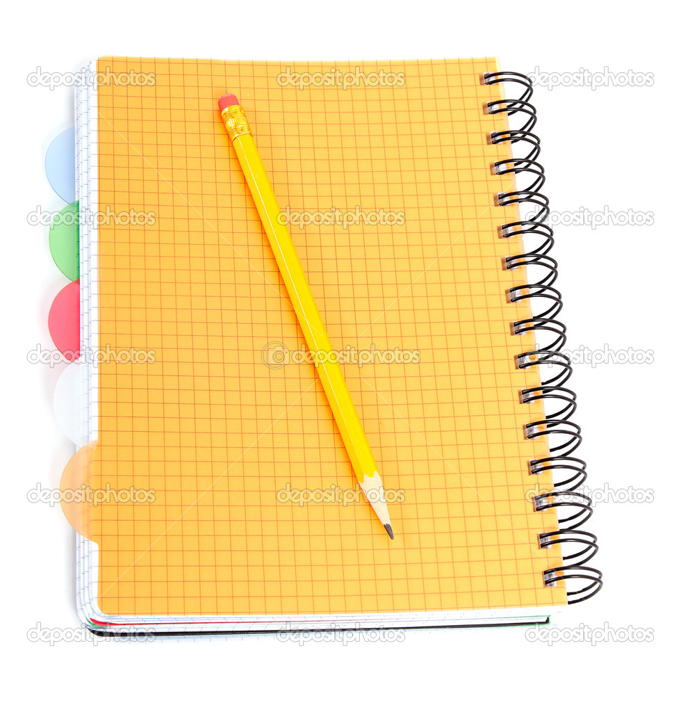 Notepad and pencil on white. — Stock Photo #9235705