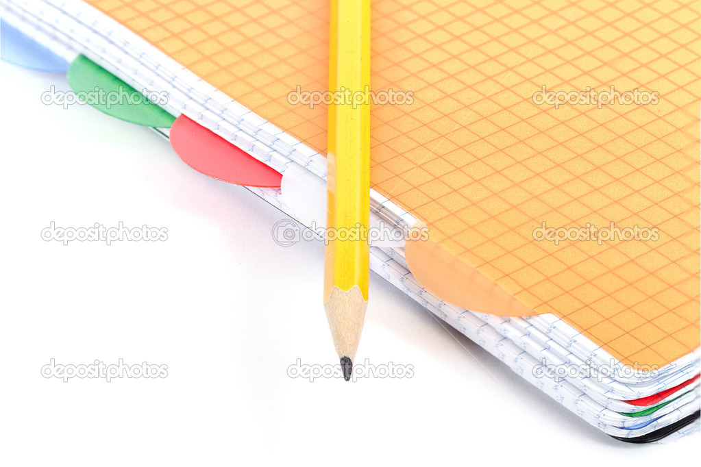 Notepad and pencil on white. — Stock Photo #9235707