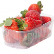 Strawberries in box. — Foto de Stock