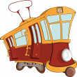Fantastic tram - Imagen vectorial