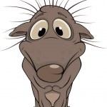 Small hedgehog. Cartoon — Stock Vector