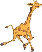 Giraffe. Cartoon — Stock Vector