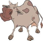 Mucca allegra. cartone animato — Vettoriale Stock