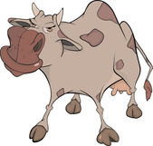 Veselá kráva. kreslený — Stock vektor