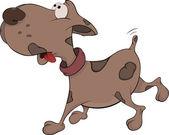 Kind and good dog. Cartoon — Stock Vector