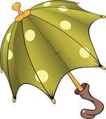 Guarda-chuva verde. desenhos animados — Vetorial Stock