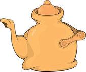 Teapot. Cartoon — Stock Vector