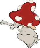 Magic mushroom. Cartoon — Stock Vector