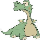 Tipo dragon.cartoon verde — Vetorial Stock