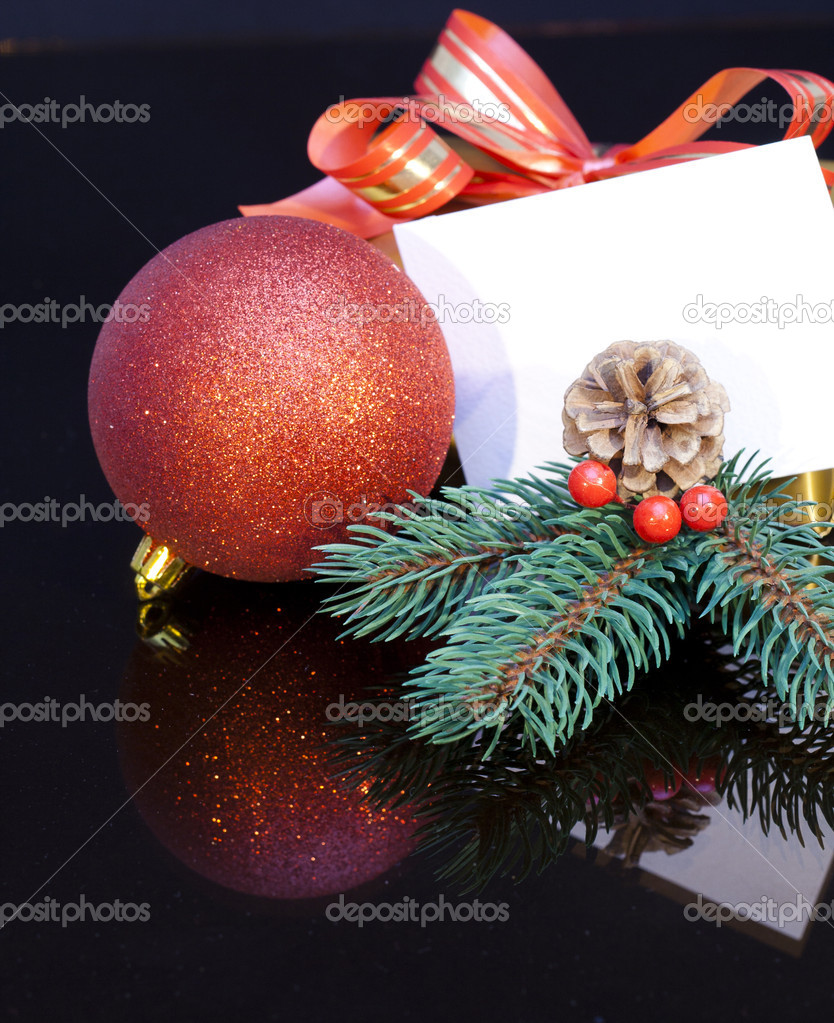 2012 Christmas gift with a tag for your personal message.  Stock Photo #8057353