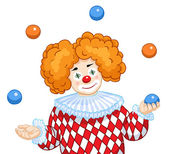 A Juggling Clown — Stock Vector