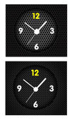 Abstract metal background with modern clock — Vector de stock