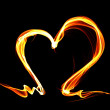 Fire heart — Stock Photo #8158912
