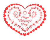 Valentine's day vector background with hearts — Stock Vector