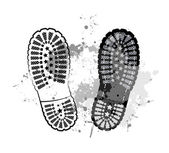Black trail foot — Stock Vector