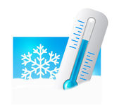 Thermometer in the snow — Stock Vector