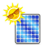 Solar power panel — Stock Vector