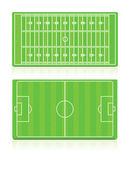 Sport Fields set with grass — Stock Vector