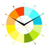 Creative clock design — Stock Vector