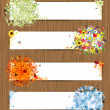Four seasons - spring, summer, autumn, winter. Banners with place for your text — Stock Vector