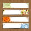Four seasons - spring, summer, autumn, winter. Banners with place for your text — Stock Vector #10309384