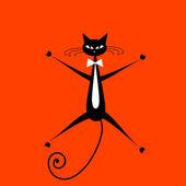 Lustige katze für ihr design — Stockvektor