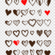 Set of valentine hearts for your design — Vector de stock