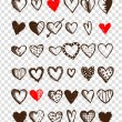 Set of valentine hearts for your design — Stock Vector