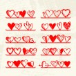 Royalty-Free Stock Vector Image: Funny hearts on shelves, sketch drawing for your design