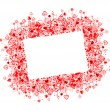 Valentine frame design, place for your photo or text — Stock Vector