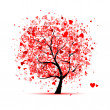 Valentine tree with hearts for your design — Stock vektor