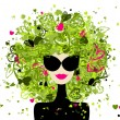 Fashion woman portrait for your design — Stock Vector #9154038