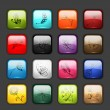 Royalty-Free Stock Vector Image: Set of glossy button icons for your design