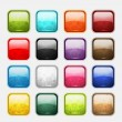 Stock Vector: Set of glossy button icons for your design