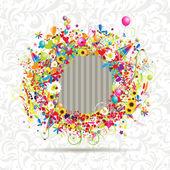 Feliz feriado, quadro engraçado, inserir sua foto aqui — Vetorial Stock