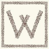 Dekoratif harf tasarımınız için — Stok Vektör