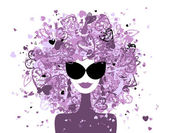 Fashion woman portrait for your design — Stock Vector