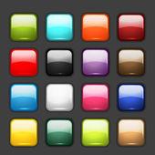 Tasarımınız için parlak düğme simge kümesi — Stok Vektör