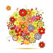 Floral bouquet. Flowers made from fruits — Stock Vector #9489395