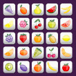 Royalty-Free Stock Vector Image: Buttons set with fruits for your design