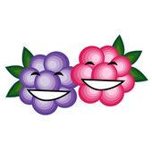 Zábavné ovoce společně s úsměvem pro návrh — Stock vektor