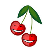 Funny fruits smiling together for your design — Stock Vector