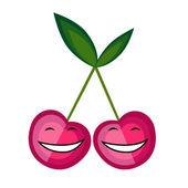 Funny fruits souriant ensemble pour votre conception — Vecteur