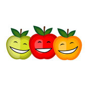 あなたのデザインを一緒に笑って面白い果物 — ストックベクタ