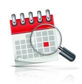 Icono de calendario — Vector de stock