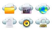 Cloud storage concept — Stock Vector