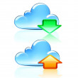 Cloud Icons — Vector de stock #8202646