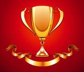 Golden trophy — Stock Vector