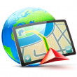 Global positioning system — Stockfoto